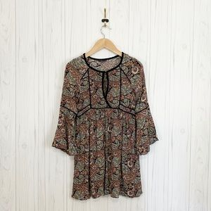 AMERICAN EAGLE Women's Boho Bell Sleeve Dress Sz M